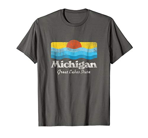 Retro Michigan Great Lakes State T-Shirt