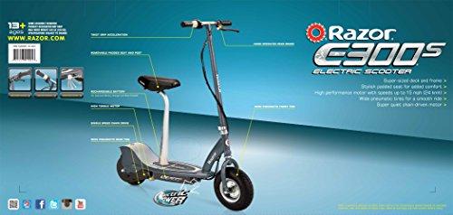 Razor E300S Seated Electric Scooter - Matte Gray