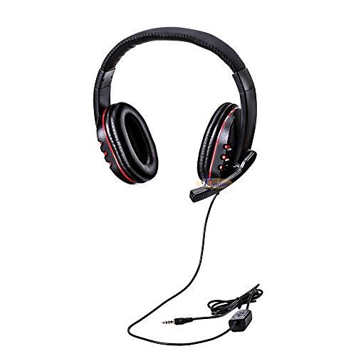 Picozon 3.5mm Plug Gaming Headset Auriculares con micrófono para PS4, Playstation Vita, Mac, Ordenador portátil, Tableta, computadora, teléfonos móviles