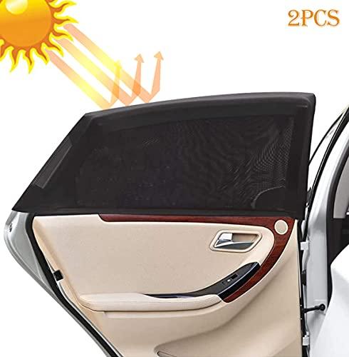 Parasol de Coche Bebé,2 Pack Mosquitera para Coche para Proteger del Sol a Bebés y Mascotas,Coche Sun Shade,Parasoles Autoadhesivos ,Bloqueo de Rayos UV Nocivos,Fácil Instalación