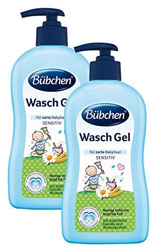 Bübchen Wasch Gel für zarte Babyhaut, 400ml Pumpspender, 2er Pack (2 x 400 ml)