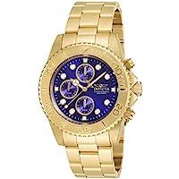 Invicta Men's Pro Diver Gold Tone Stainless Steel Chronograph Quartz Watch