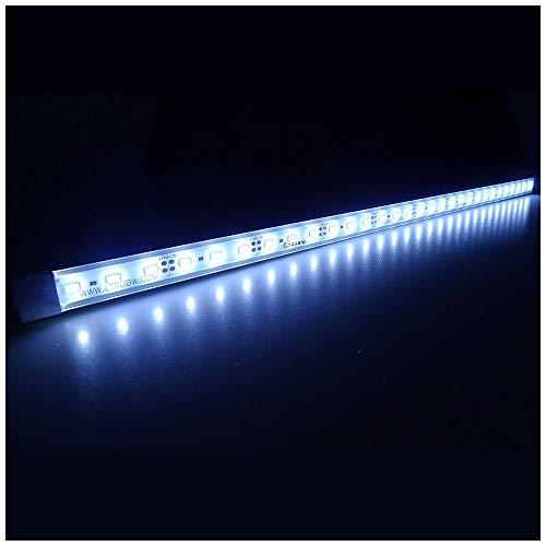 LTRGBW 5730 SMD 12V DC 18 LED super heldere aquarium LED-strip lichten waterdicht schijnwerper aluminium LED lineaire verlichting - kastje LED-bar lamp (wit) 50CM Weiß