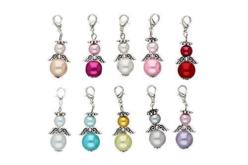 DIY Set für 10 Perlenengel Schutzengel in verschiedenen Farben/Hochzeit Konfirmation Geburtstag Weihnacht Taufe Kommunion Geschenk Gastgeschenk EAS3