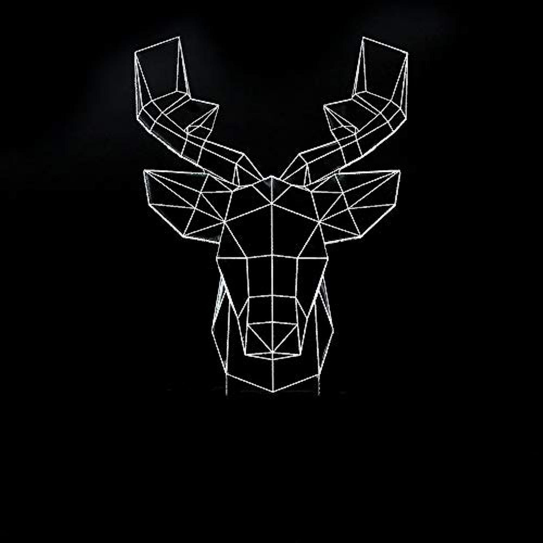 Mozhate 3D Led Nachtlicht 7 Farben ndern Abstrakte Elch Deer Modellierung Touch Button Kinder Tischlampe Schlafzimmer Home Beleuchtung Decor,Remote und berühren