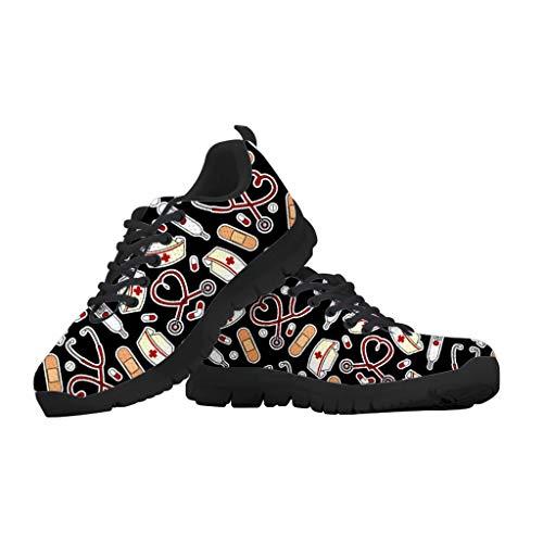 chaqlin - Zapatillas de correr unisex para adultos, estilo casual, para gimnasio, caminar, correr, con cordones, color, talla 42.5 EU