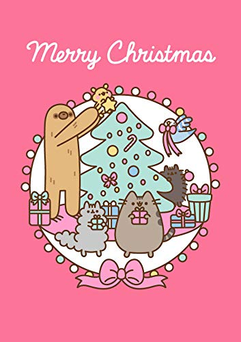 Hype Cards Pusheen Christmas - Sloth Tree - Blank Christmas Card - PUSHX11