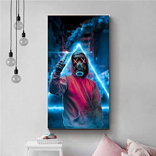 KWzEQ Cartel de Arte de Pared Moderno Hombre Vestido con Ropa roja Lienzo Pintura Decorar Sala de Estar,Pintura sin Marco,75x131cm
