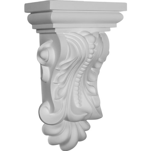 Ekena Millwork COR07X05X13BE 7 7/8-Inch W x 5 1/8-Inch D x 13 3/8-Inch H Beaded with Leaves Corbel