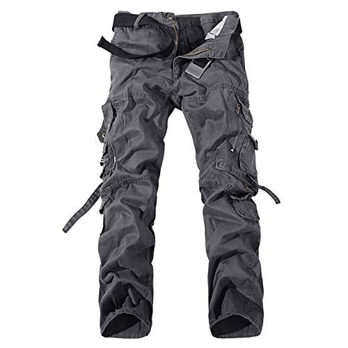 Match Uomo Pantaloni Cargo Casual Pantaloni Militari con Tasche Laterali Pantaloni da Lavoro