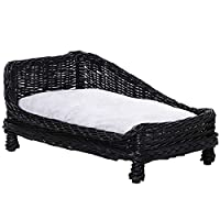 CHARMING DESIGN: An attractive piece to place in your home, with a sloping design for a higher back so they can rest against it comfortably and safely. HAND-WOVEN WICKER: Non-toxic for health, it is tough and resilient, ensuring durability and streng...