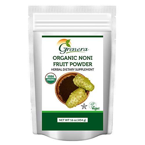 Grenera Organic Noni Fruit Powder, 1 lb (454 g) – Organic, Non – GMO, Gluten Free