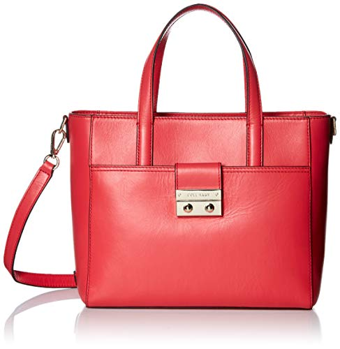 Cole Haan Lock Group Small Tote, Teaberry