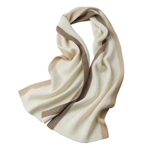 WCZ Winter Schals für Frauen Wraps Einfache Strickschal Mode weichen Tuch Damen-Verpackungs-Schal-Schal-Dame-Schal Männer Schal Paar Kaschmir-Schal weiche warme Bib neues Jahr-Geschenk-Schals,Weiß,18