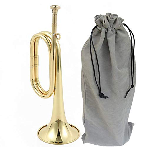 Liyafy Trumpet Brass Cavalry for Beginner School Band Cavalry Military Orchestra Gold