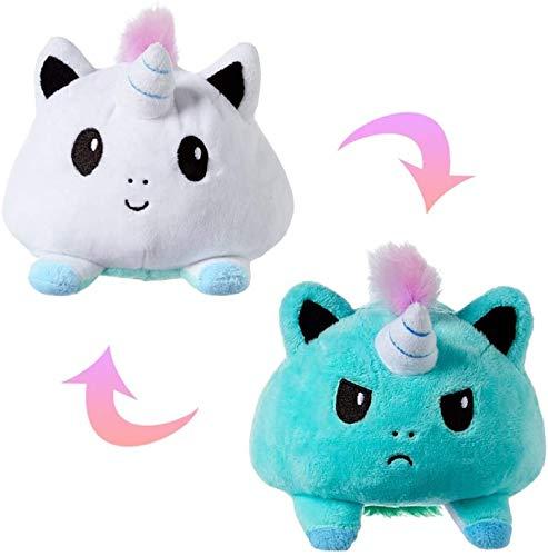 Unda118 Zweiseitiger Ausdruck Flip Doll, buntes Tier Cartoon Soft Doll Kissen Plüschtier, Geschenk für Weihnachtskind (G)