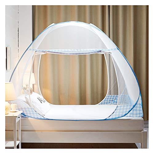 ZGF Anti Mosquito Redes Pop Up Mosquito Net Bed Tienda de Cama con la Parte Inferior 200 (L) 180 (W) 150 (H) Mosquiteras Nettings Portátil para niños pequeños para niños Adultos,Light Blue,1.2m Bed