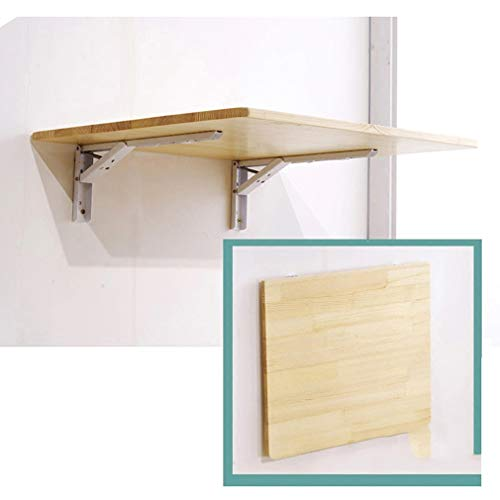 ZDDY Solid Wood Wall Mounted Floating Folding Table, Small Space Saving Computer Desk Workbench Drop-Leaf Kitchen Dining Table, Wall Hanging Table for Office/Home/Study. (Size : 100 * 40cm/39 * 16in)