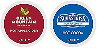 Green Mountain Naturals Hot Apple Cider & Swiss Miss Milk Chocolate Hot Cocoa K-Cup Combo Pack for Keurig 2.0-48 K-Cups Total (24 of Each)