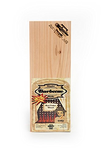 Axtschlag Western Red Cedar barbecueplanken, behoedzaam grillen en koken op natuurlijk hout, Wood Planks, rookplanken, afmeting 300 x 110 x 11 mm, 8-delige BBQ Party Pack