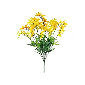 22″ Inch Bouquet Yellow Freesia Bush Artificial Silk Flowers