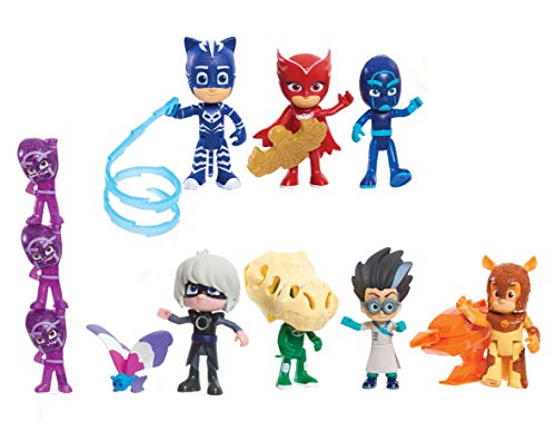 PJ Masks - Set di 16 personaggi Deluxe