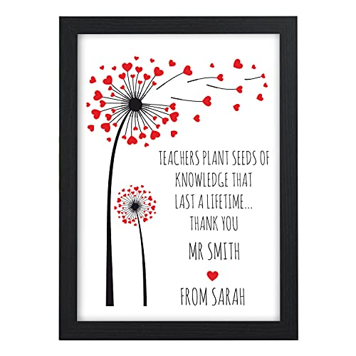 Personalised Thank You Teacher Gift, Childminder, TA, Teaching Assistant,...