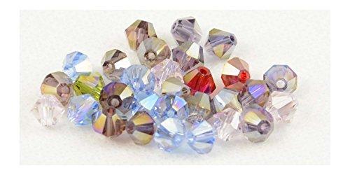Confezione da 30colori assortiti crystal AB 6mm Bicono Sfaccettato Perline (81720–20