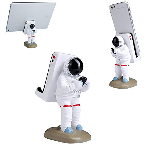 GOODKSSOP Cute Funny Cell Phone Stand, Upgraded Unique Astronaut Style, Durable Resin Material, Universal for iPhone and All Mobile Phones Tablet PC Desktop Holder Desk Mount