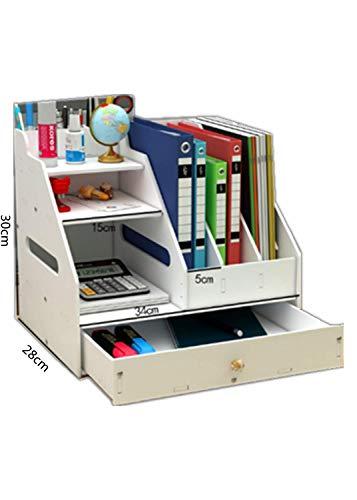 YBYP卓上収納ボックス オフェス収納 卓上収納ケースオフェス収納 34*28*30cm 卓上収納ケース ペン立て 小物入れ卓上収納文房具 仕切り 引き出し 多機能 整理本立て デスク上置き棚