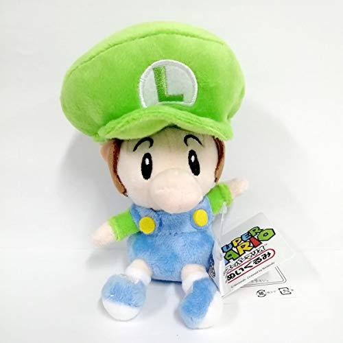 Yijinbo Baby Luigi Super Mario Bros World - Peluche de Animal de Peluche (12,7 cm)