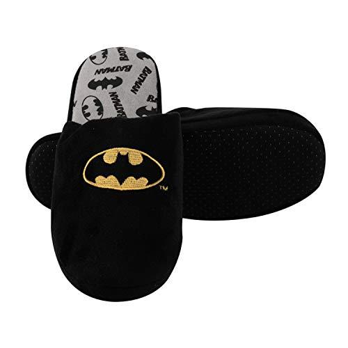 United Labels Batman Hausschuhe Herren Schwarz, Pantoffeln Slipper (43 EU, 43)