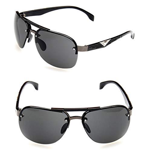 WOJUEF Sonnenbrille Alloy Men Sonnenbrille Polarized Lens Pilot Männliche Sonnenbrille Fahrbrille