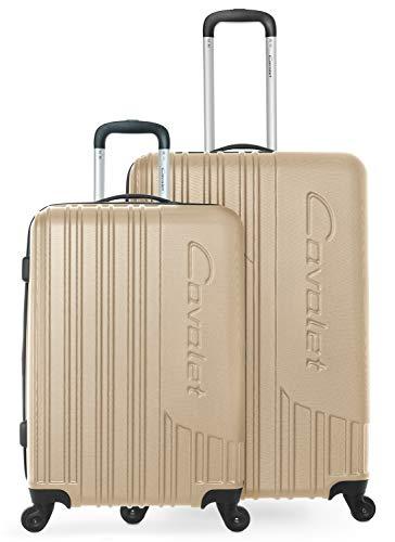 Cavalet Malibu - Reisekoffer Gepäck Set robuste Hartschale mit Erweiterung - Trolley 65 cm + großer Koffer 73 cm, ABS, TSA Schloss, Bronze