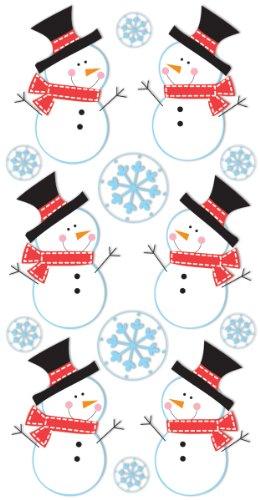 SandyLion Essentials Dimensional Stickers-Snowmen & Snowflakes/Verkocht als een verpakking van 6