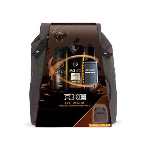 Axe Pack Dark Temptation Mochila Trio - Desodorante 150 ml + Eau de Toilette 100 ml + Gel de Ducha 250 ml