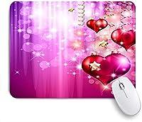 KAPANOU マウスパッド、幸せな母の日ストリングハーツボケハローキラキラスポットスパークルスパンコールロマンチック おしゃれ 耐久性が良い 滑り止めゴム底 ゲーミングなど適用 マウス 用ノートブックコンピュータマウスマット