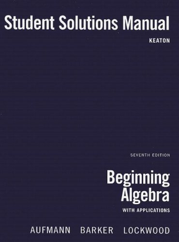 Download Beginning Algebra with Applications 0618820647