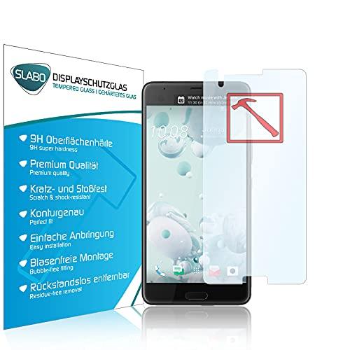 Slabo Premium Panzerglasfolie für HTC U Ultra Panzerfolie Schutzfolie Echtglas Folie Tempered Glass KLAR 9H Hartglas