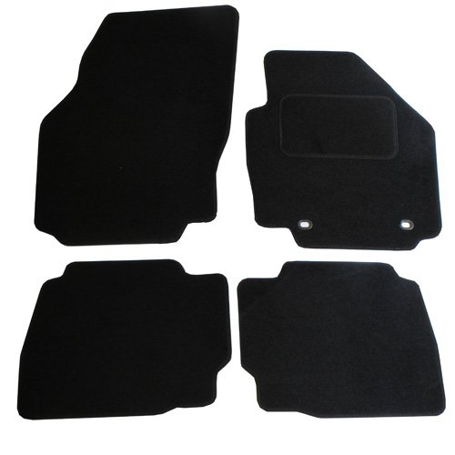 JVL Fußmatten für Ford Mondeo MK4 (2007-2012), passgenaues Automatten-Set mit 2 ovalen Clips, Schwarz