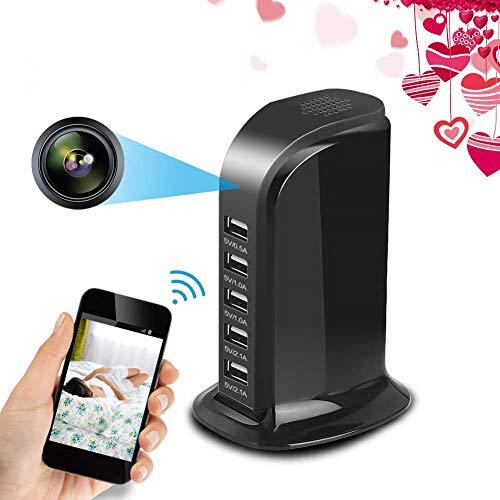 Balscw-J USB Cargador cámara WiFi espía Oculto cámara, HD 1080P Mini cámara con 5 Puerto estación de…