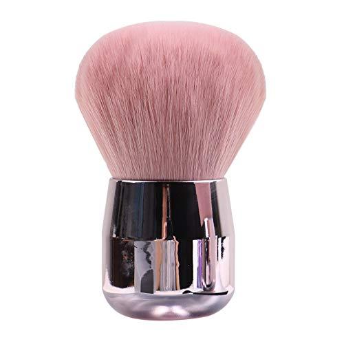 Gshy Brosse à Poudre Portable Doux Tête de Champignon Lâche Pinceau de Maquillage de Premier Plan Poudre de Maquillage Poudre Blush Pinceau Champignon Tête Ronde