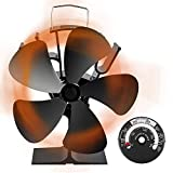 [令和改良最新版] ストーブファン Aonbys 5つブレード エコストーブファン 火力ファン エコファン 火力熱炉ファン 静音 省エネ ストーブファンヒーター 薪ストーブ/暖炉用品 スチール製 ストーブ 熱供給用品 暖房用 防寒対策 (エコファン)