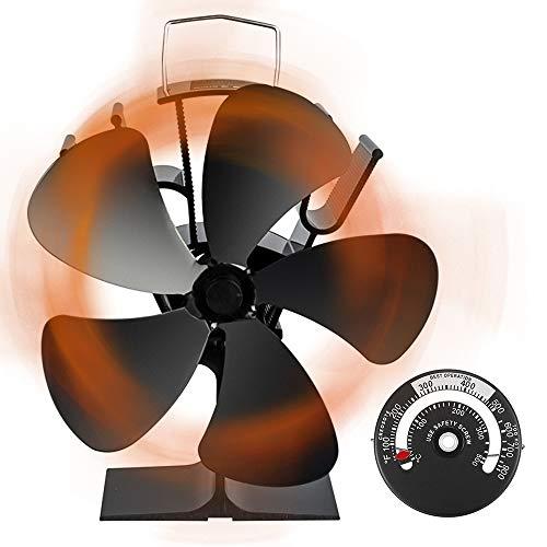 ストーブファン Aonbys 2019年最新版 エコストーブファン 火力ファン 5つブレード エコファン 火力熱炉ファ...