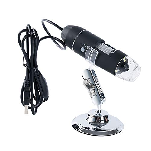 Meichoon 1600X Digital Flexible Microscope Electronic Handheld Mini USB Microscope Magnification Camera with 8 LED HD Lights,Compatible with Window 7 PX, NB03C