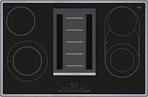 Bosch PKM845F11E Serie 8 Kochfeld mit Dunstabzug (Strahlung) / 80 cm / Schwarz / Umlaufender Rahmen / DirectSelect / 17 Leistungsstufen / PowerBoost / ReStart / CombiZone / PowerBoost