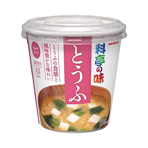 マルコメ カップ料亭の味 とうふ 即席味噌汁 1食×6個