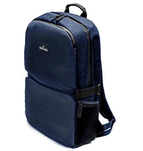 "Mochila Backpack SPALDING & BROS A.G. Big Brooklyn Line Porta PC de hasta 15/6"" Bolsillo para Tablet Unisex 32 x 46 x 17 cm 185623U-Azul"