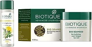 Biotique Bio Dandelion Visibly Ageless Serum, 190ml And Biotique Bio Seaweed Revitalizing Anti Fatigue Eye Gel, 15g