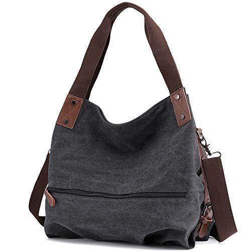 Huttoly Canvas Tasche Damen Umhängetaschen Handtasche Vintage Schultertasche Crossbody Bag Tasche Shopper Beuteltasche